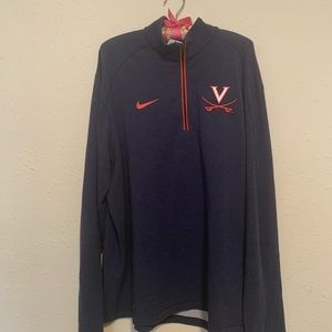 Men's UVA Nike dri-fit 1/4 zip